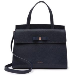 NWT authentic Ted Baker bow detail navy tote